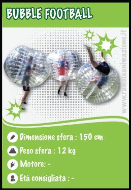 Noleggio Bubble Football e Palle calcio a Pescara, Chieti, Teramo e L' Aquila