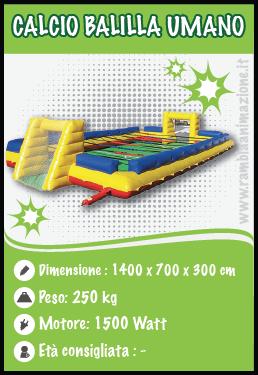 Noleggio calcio balilla Umano per eventi sportivi e animazione in spiaggia Pescara, Chieti, Teramo e L'Aquila