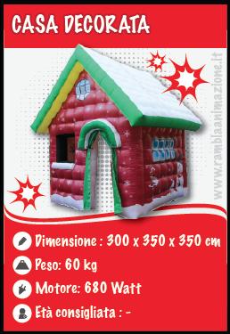 Noleggio Casa gonfiabile di Babbo Natale - Gonfiabile Natalizio pubblicitario Pescara, Chieti, Teramo e L'Aquila