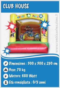 Affitto giochi gonfiabili per esterno e interni a Sulmona - club House