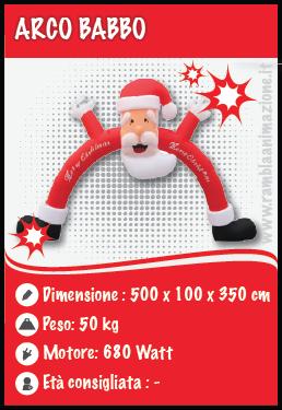 Noleggio Arco di Babbo Natale