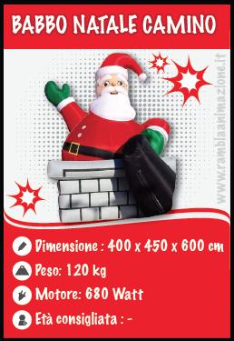 Noleggio Babbo Natale Gonfiabile Caminetto