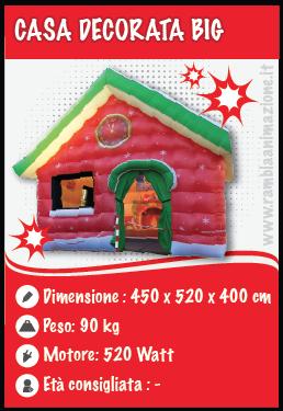 Noleggio Casa Gonfiabile Natalizia (4 x 5 x 3,5)