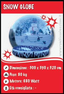Noleggio Snow Globe gonfiabile (3,5mt diametro)