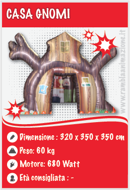 Noleggio Casa gnomi per Natale gonfiabile