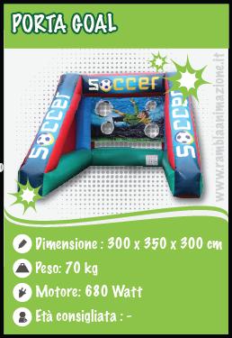 Porta Goal gonfiabile professionale per Bambini e Adulti