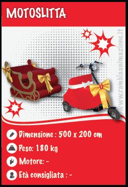 Noleggiamo e Affittiamo la Slitta motorizzata di Babbo Natale