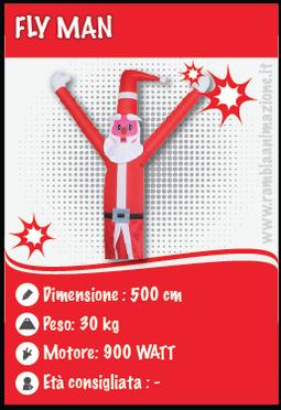 Fly Man gonfiabile decorativo per il Natale (Babbo-Natale)