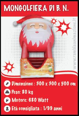 Mongolfiera di Babbo Natale Gonfiabile per Eventi Natalizi