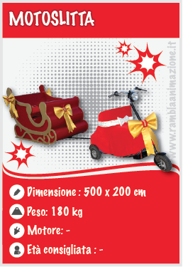 Noleggiamo gonfiabili decorativi Natalizi Pescara, Chieti, Teramo e L'aquila