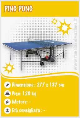 noleggio ping pong