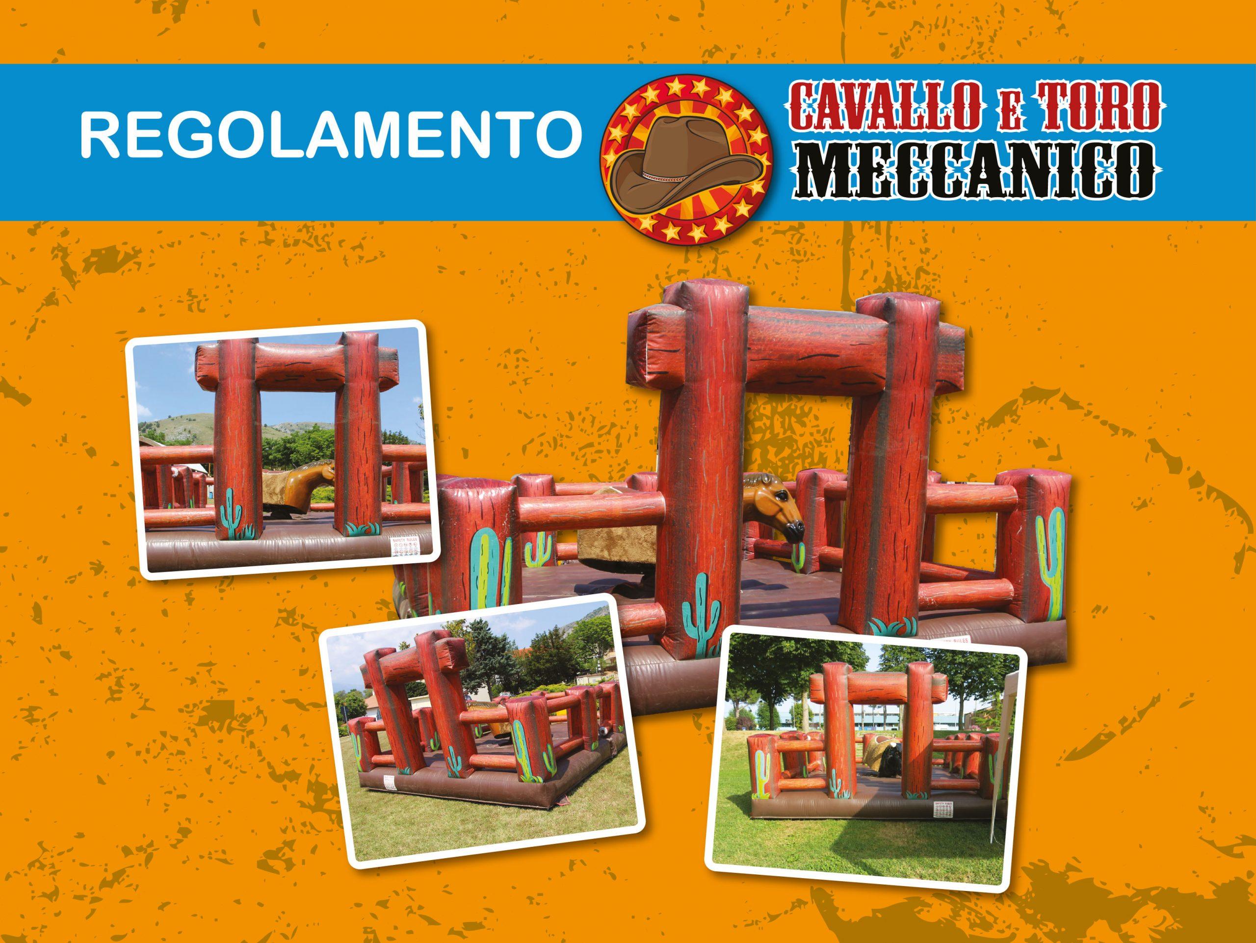 regolamento toro meccanico per Eventi